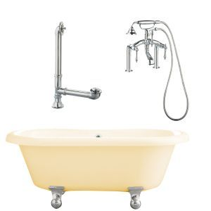 Giagni LP3 PC B Portsmouth Dual Tub with Cannonball Feet, Drain, Supply Lines &