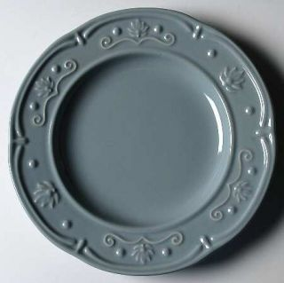 Jaclyn Smith Scalloped Floral Blue Salad Plate, Fine China Dinnerware   Traditio