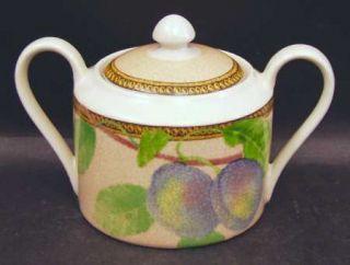 Interiors (PTS) Newbury Sugar Bowl & Lid, Fine China Dinnerware   Stoneware, Fru