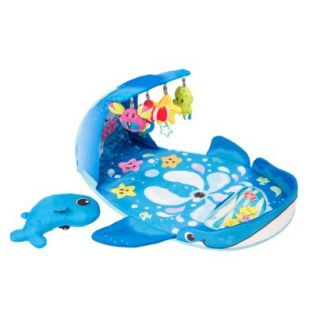 Infantino Wonder Whale Kicks & Giggles Activity Gym   Blue