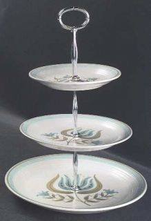 Franciscan Tulip Time 3 Tiered Serving Tray (DP, SP, BB), Fine China Dinnerware