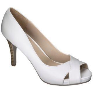 Womens Xhilaration Angela Peep Toe Pump   White 11