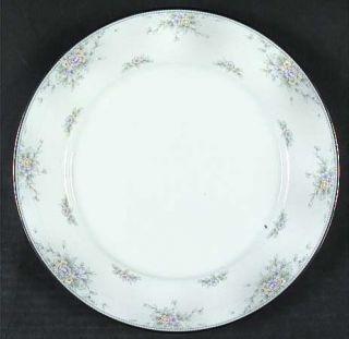 Noritake Amery Dinner Plate, Fine China Dinnerware   Lavender&Yellow Flowers,Gra