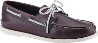 Mens Sperry Top Sider A/O 2 Eye Free Time   Purple Full Grain Leather Sailing S