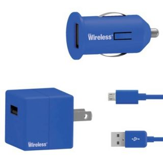 Just Wireless Mobile Phone Battery Charger   Blue (24002)