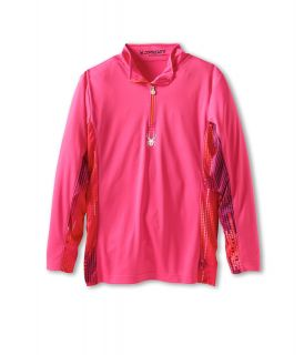 Spyder Kids Girls Bloom Dry W.E.B. T Neck F13 Girls Long Sleeve Pullover (Pink)
