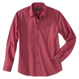 Mossimo Mens Button Down   Red Hot XL
