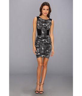 BCBGMAXAZRIA Devin Side Ruched Dress Womens Dress (Black)
