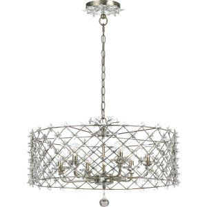 Crystorama Lighting CRY 449 SA Willow Chandelier Clear Glass Star