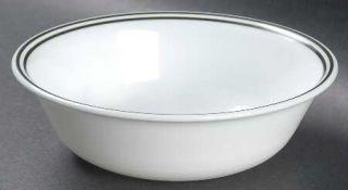 Corning Global Stripes Soup/Cereal Bowl, Fine China Dinnerware   Livingware,Gree