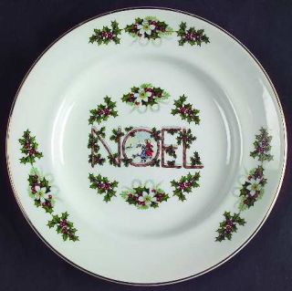 Enoch Wood & Sons Noel (Smooth Edge) Dessert/Pie Plate, Fine China Dinnerware