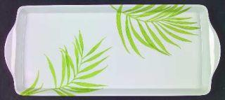 Corning Bamboo Leaf 15 Melamine Rectangular Handled Tray, Fine China Dinnerware