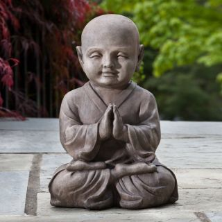 Alfresco Home Praying Buddha Garden Statue Multicolor   61 7210
