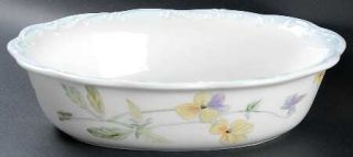 Pfaltzgraff Vienna Floral 10 Oval Vegetable Bowl, Fine China Dinnerware   Multi