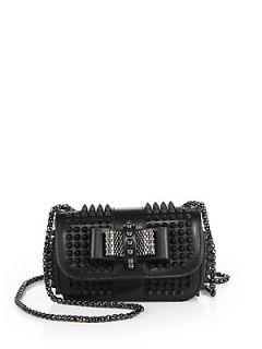 Christian Louboutin Sweet Charity Studded Shoulder Bag   Black