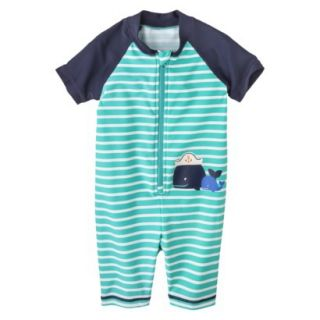 Just One You by Carters Infant Boys Whale Full Body Rashguard   Mint 6 M