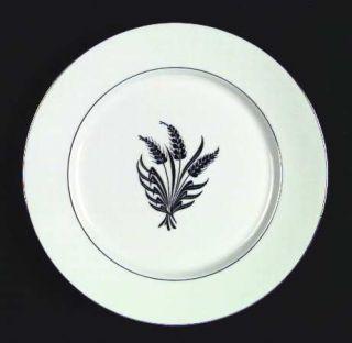 Royal Jackson Silver Wheat White  Dinner Plate, Fine China Dinnerware   Platinum