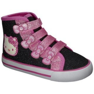 Toddler Girls Hello Kitty High Top Canvas   Black 8