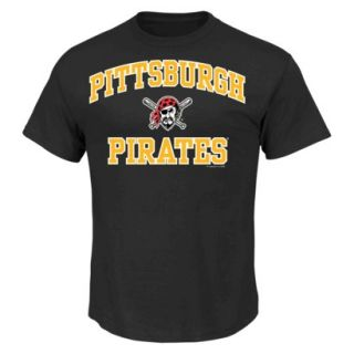 MLB Mens Pittsburgh Pirates T Shirt   Black (L)