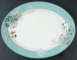 Mikasa silk floral teal 16 oval serving platter fine china mikasa silk floral teal 16 oval serving platter fine china dinnerware teal mightylinksfo