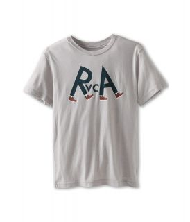RVCA Kids RVCA Feet Tee Boys Short Sleeve Pullover (Gray)
