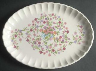 WS George Fiesta 13 Oval Serving Platter, Fine China Dinnerware   Bolero, Pink,