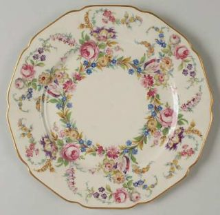 Rosenthal   Continental Linnie Lee Luncheon Plate, Fine China Dinnerware   Ivory