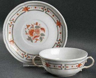 Richard Ginori Taormina Footed Cream Soup Bowl & Saucer Set, Fine China Dinnerwa