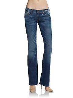 Faded Flared Jeans   Medium Wash