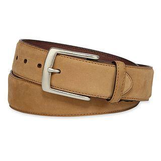 John Deere Leather Camo Belt, Tan, Mens