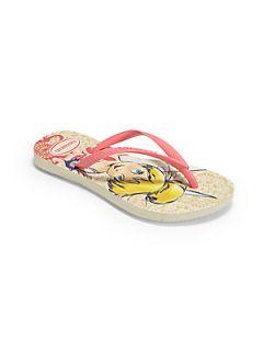 Havaianas Toddlers & Girls Tinkerbell Slim Flip Flops   Beige