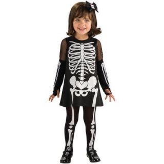 Toddler Girl Skeleton Costume   One Size Fits Most