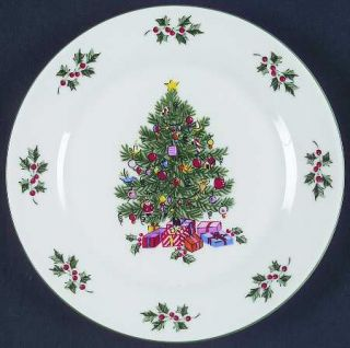 Gibson Designs Noel Morning Salad Plate, Fine China Dinnerware   Christmas Tree,