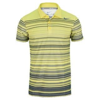 Nike Men`s Rally Sphere Stripe Tennis Polo Xxlarge 700_Sonic_Yellow