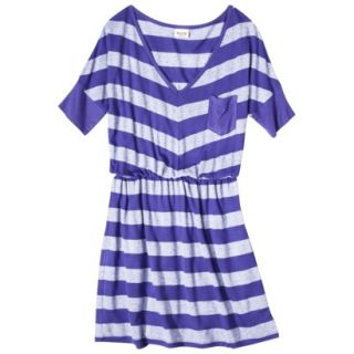 Mossimo Supply Co. Juniors V Neck Elbow Sleeve Dress   Blue Magic L(11 13)