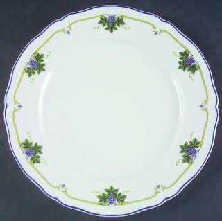 Richard Ginori Uva Dinner Plate, Fine China Dinnerware   Antico Doccia,Grapes,Le