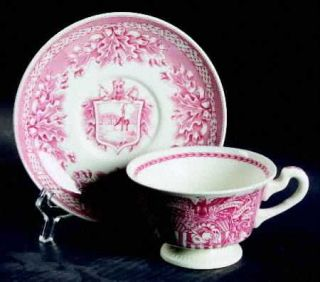 Wedgwood United States Military Academy Red Footed Cup & Saucer Set, Fine China