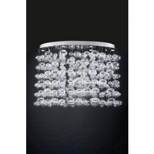 PLC Lighting PLC 96967 PC Bubbles Chandelier / 12 Light Halogen 120v. 50W