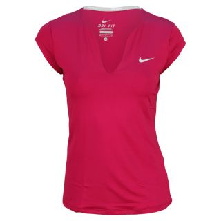 Nike Women`s Pure Short Sleeve Tennis Top Xsmall 666_Red