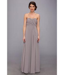 Donna Morgan Strapless Long Chiffon With Twist Dress Womens Dress (Navy)