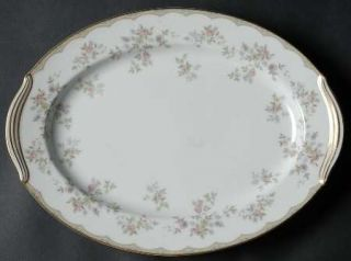 Noritake Roberta 13 Oval Serving Platter, Fine China Dinnerware   Tan Band/Line