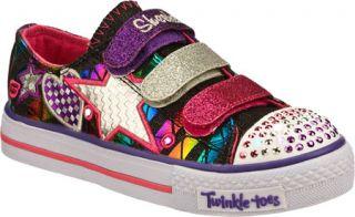 Infant/Toddler Girls Skechers Twinkle Toes Shuffles Classy Sassy   Black/Multi