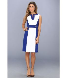Tahari by ASL Daisy Dress Womens Dress (Blue)