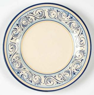 Better Homes and Garden Renes Salad Plate, Fine China Dinnerware   Blue,Yellow,S