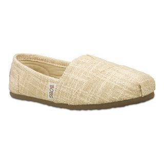 BOBS FROM SKECHERS Helping Hand Linen Slip On Shoes, Natural, Womens