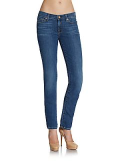 Roxanne Faded Contrast Stitched Skinny Jeans   Medium
