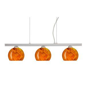 Besa Lighting BEL 3LP 5658HB PN Palla 5 Island Light