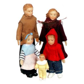 Aztec Imports Inc Town Square Miniatures Modern Vinyl Doll Family Multicolor