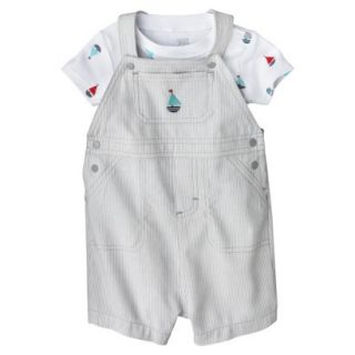 Just One YouMade by Carters Newborn Boys Shortall Set   Grey/White 6 M