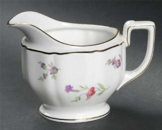 Heinrich   H&C Victoria (Multicolor Flowers) Creamer, Fine China Dinnerware   Mu
